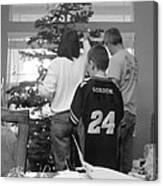 Christmas Tree Prep Canvas Print