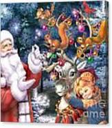 Christmas Tree-rudolph Canvas Print