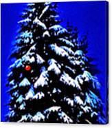 Christmas Tree With Red Ball Canvas Print