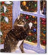 Christmas Visitor Canvas Print