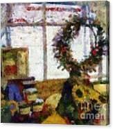 Christmastime Folk Art Fantasia Canvas Print