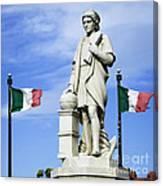 Christopher Columbus Baltimore  Statue Canvas Print