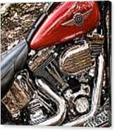 Chrome And Red Canvas Print