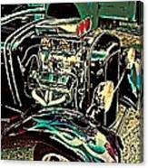 Chrome Engine Canvas Print
