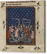Chroniques De France Ou De Saint Denis Canvas Print