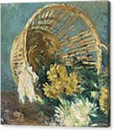 Chrysanthemums Or The Overturned Basket Canvas Print