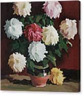 Chrysanths Canvas Print