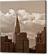 Chrysler Building And The New York City Skyline Canvas Print