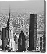Chrysler Building New York Black And White Canvas Print