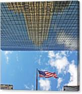 Chrysler Building Reflections Vertical 2 Canvas Print