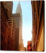 Chrysler Building Rises Above New York City Canyons Canvas Print