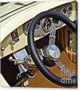 Chrysler Interior Steering Wheel Classic Car American Made Canvas Print