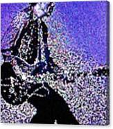 Chuck Berry Rocks Abstract Canvas Print