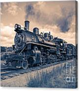 Full Steam Through The Meadow Canvas Print