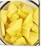 Chunks Of Pineapple Canvas Print