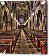Church Aisle Canvas Print