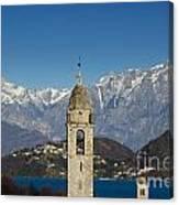 Church And Alps Canvas Print