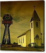 Church And Casino Those Two Angels  Canvas Print