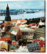 Church And River Canvas Print