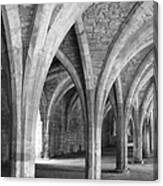 Church Archways In Black And White Canvas Print