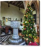 Church At Christmas V7 Canvas Print