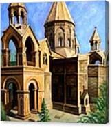 Church At Etchmiazin Canvas Print