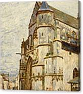 Church At Moret After The Rain Canvas Print