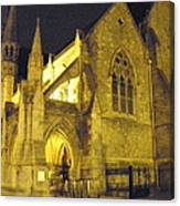 Church At Night Canvas Print