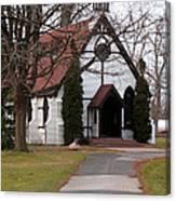 Church At The Lake Canvas Print