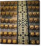 Church Chairs Canvas Print
