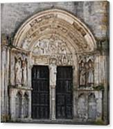 Church Entrance - St  Thibault Canvas Print