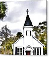 Church In A Small Town Canvas Print