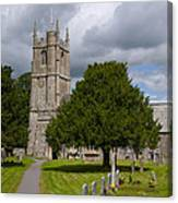 Church In Avebury Uk Canvas Print