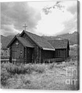 Church In Black And White Canvas Print