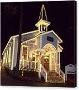 Church In Dollywood At Christmas Canvas Print