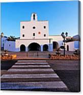 Church In Sant Josep Town On Ibiza Island Canvas Print