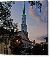 Church In Savannah Canvas Print