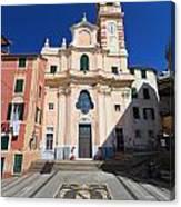 church in Sori. Italy Canvas Print