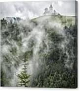 Church In The Clouds Canvas Print