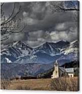 Church In The Hills Canvas Print