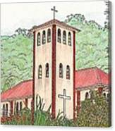 Church In The Jungle Canvas Print