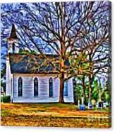 Church In The Wildwood - Paint Canvas Print