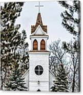 Church In The Woods Canvas Print