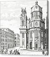 Church Of Notre Dame, Salzburg Canvas Print