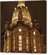 Church Of Our Lady At Night  -  Dresden - Germany Canvas Print