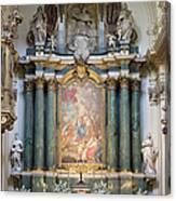 Church Of Santa Barbara Interior In Madrid Canvas Print