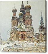 Church Of St. Basil In Moscow Canvas Print