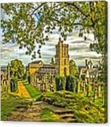 Church Of The Holy Rude Cemetery Stirling Canvas Print