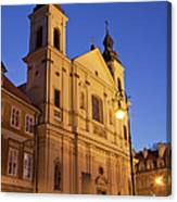 Church Of The Holy Spirit In Warsaw Canvas Print