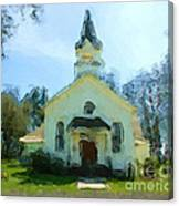 Church Of The Meadow Canvas Print